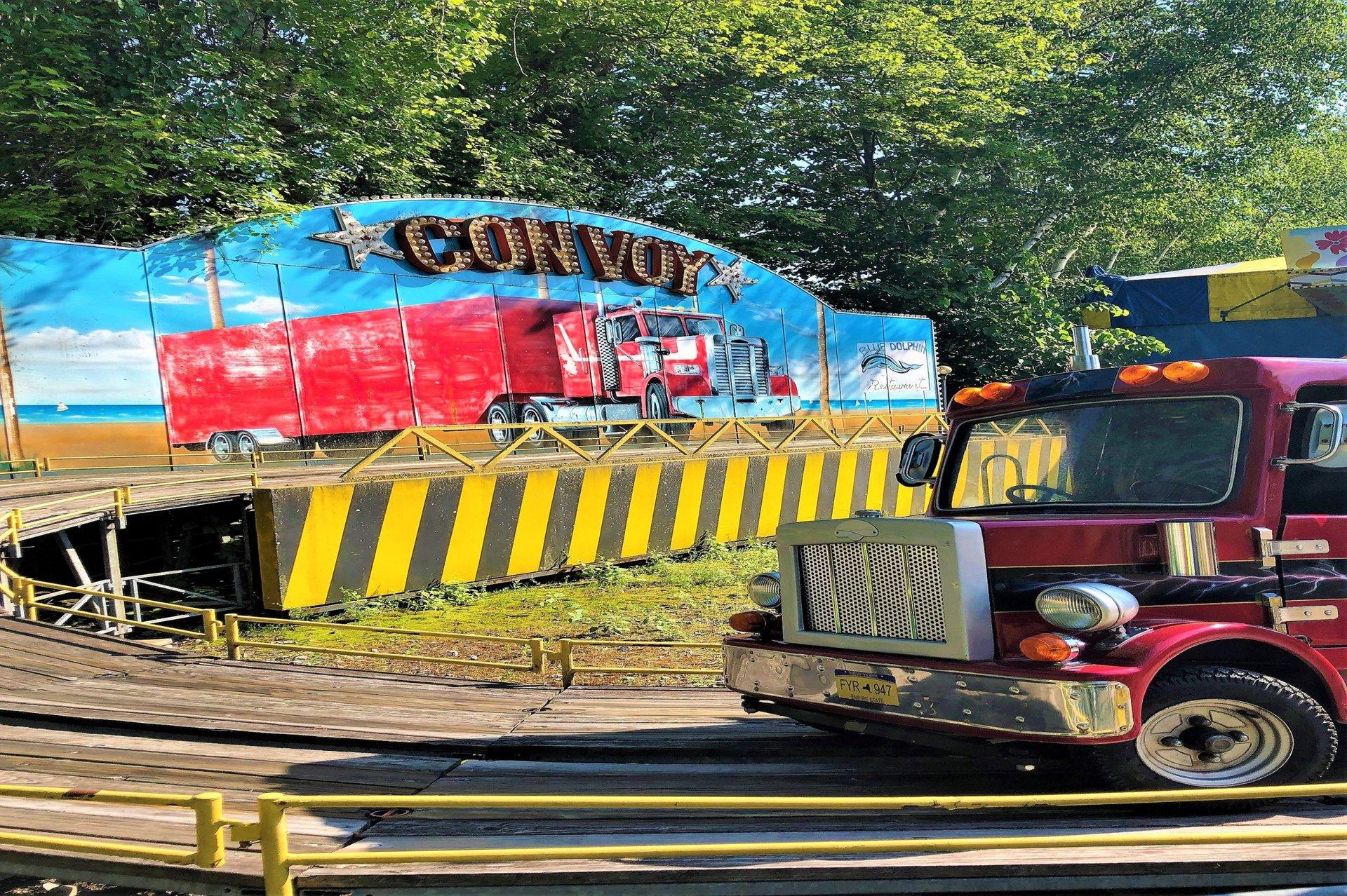 Convoy big rig ride at Six Flags