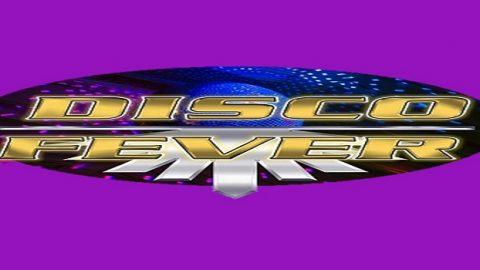 Disco Fever Logo on Purple Background