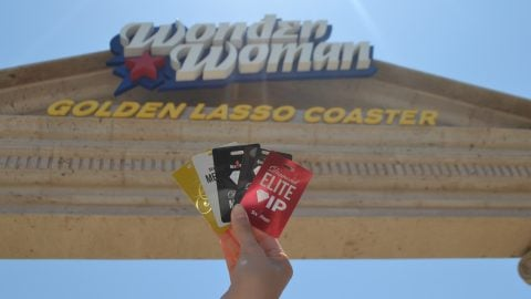 Membership Cards in front of Wonder Woman