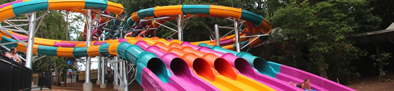 wahoo racer colorful racing waterslide