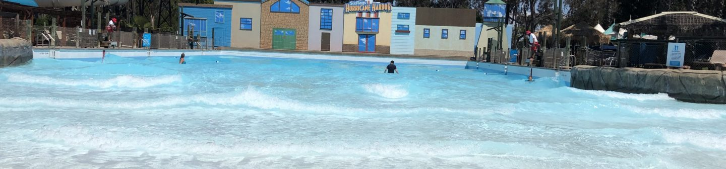 view of the wave pool at hurricane harbor