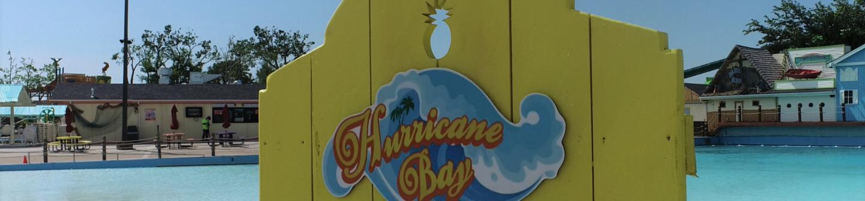 Hurricane Bay sign image at Hurricane Harbor Oklahoma City