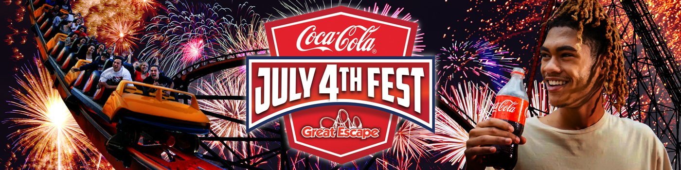 Coca-Cola July 4th Fest at The Great Escape