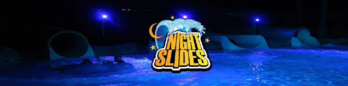 Night Slides at Hurricane Harbor