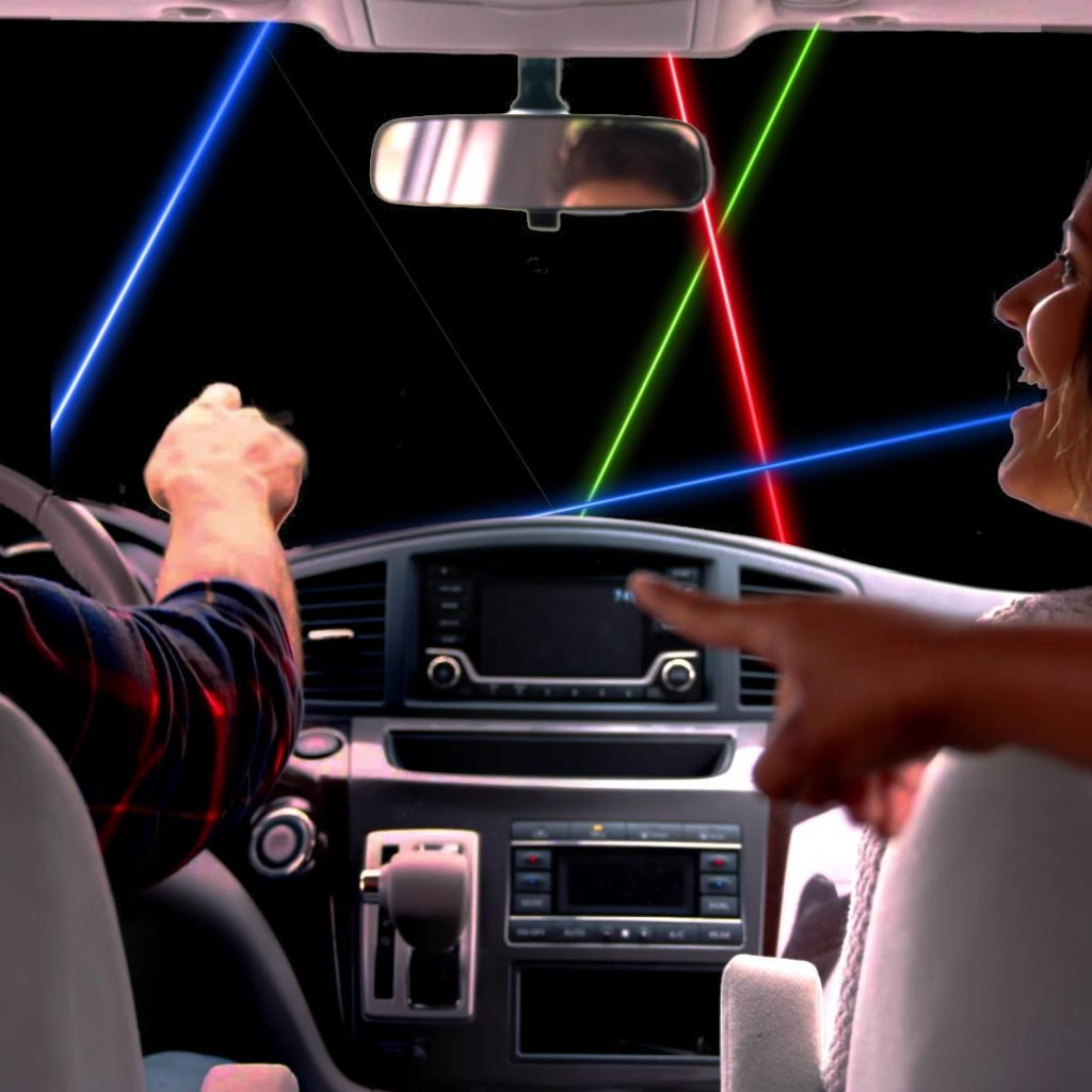 Laser Show In Car