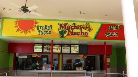 guests ordering at Macho Nacho street tacos at Six Flags