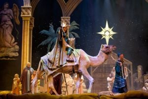 Majesty of Christmas Show - Wiseman riding a camel.