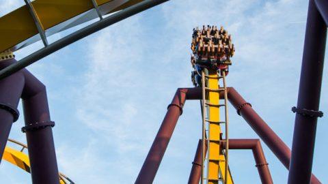 Vampire roller coaster at La Ronde