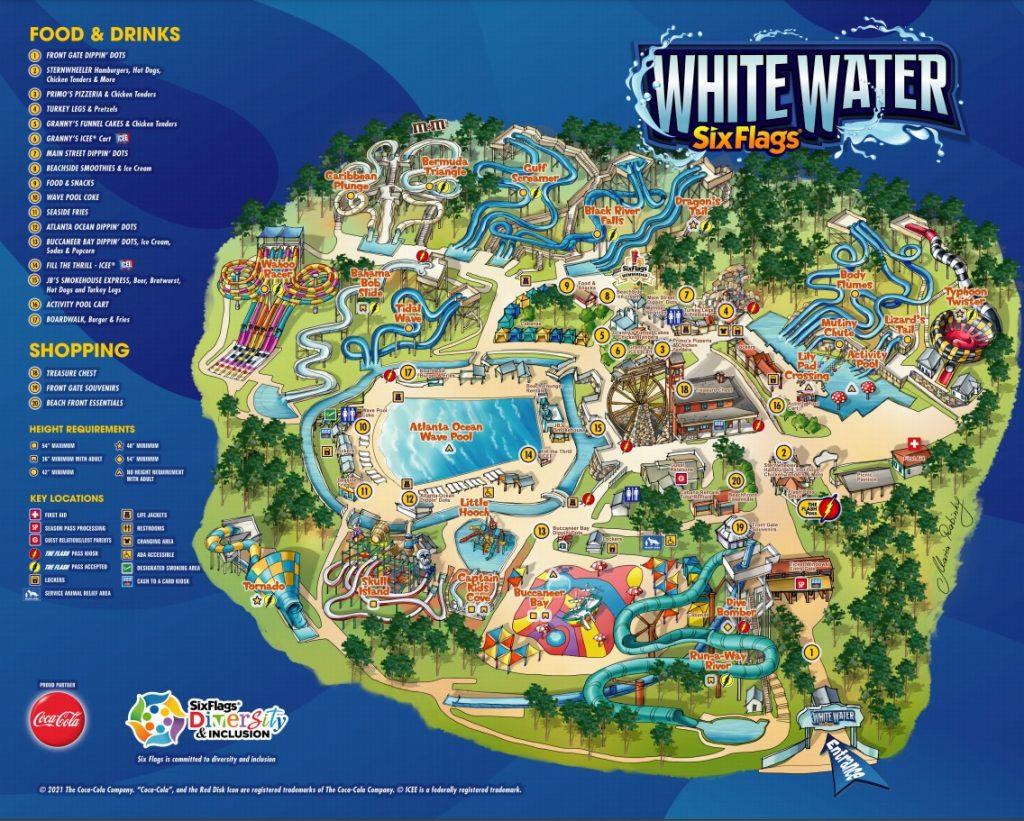 White Water Atlanta Park map May 2021
