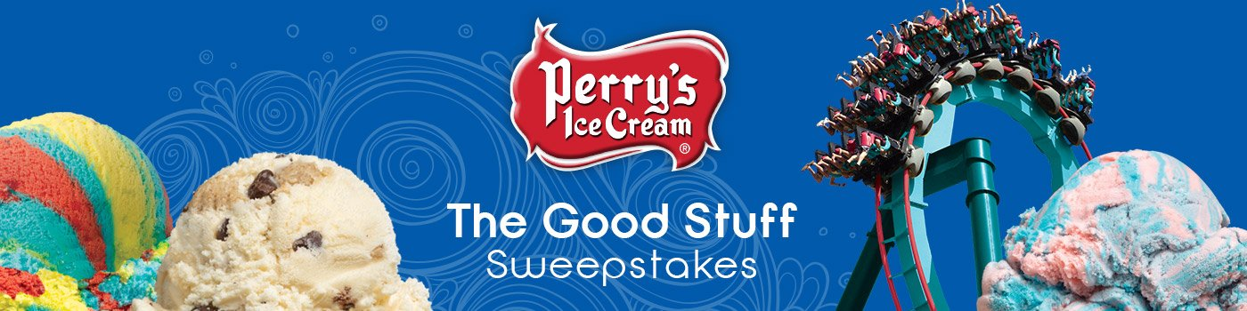 Perry's Ice Cream The Good Stuff Sweepstakes banner and logo