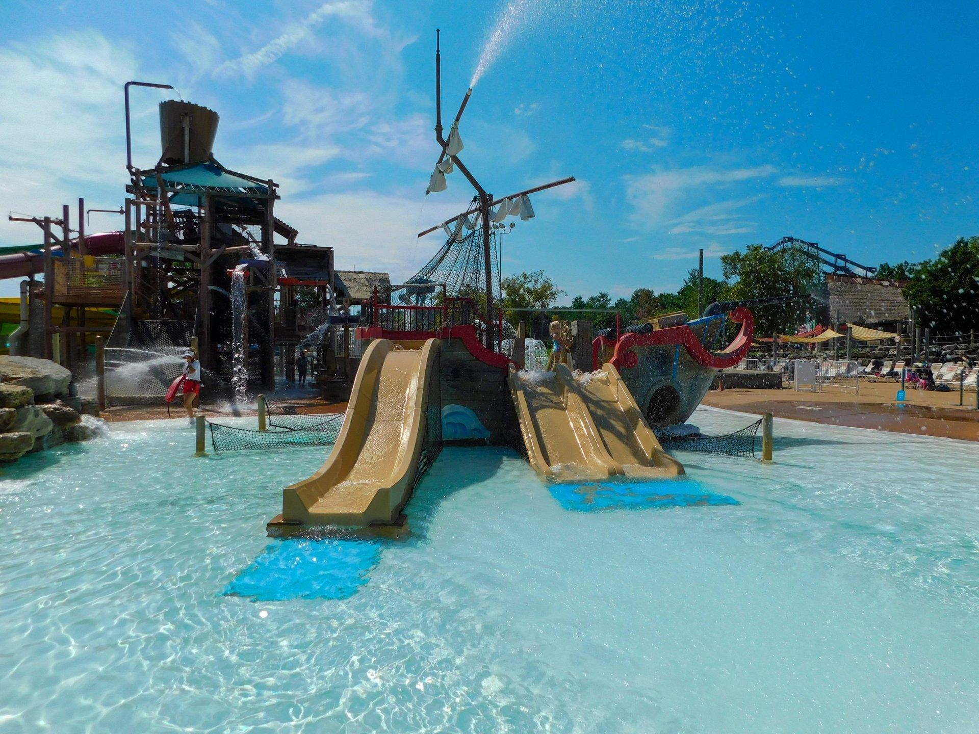 Pirate Ship Slides Six Flags St Louis