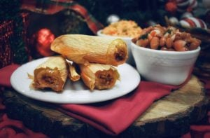 Pork tamale dinner - available during Holiday in the Park