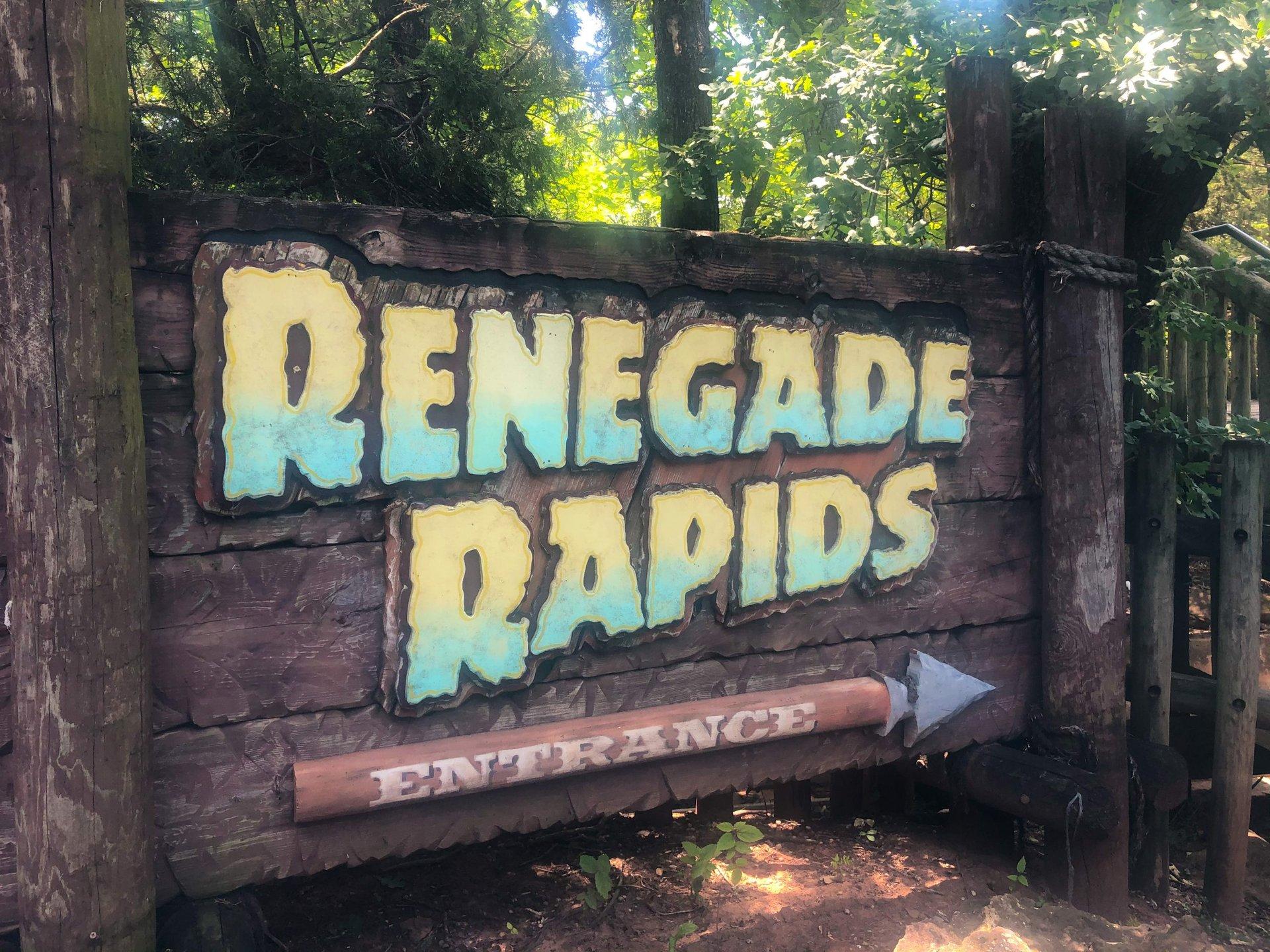 Renegade Rapids Frontier City sign