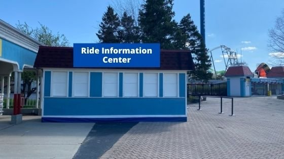 ride information center at six flags great america