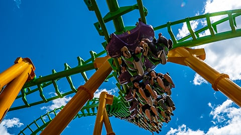 The Riddler at Six Flags New England