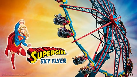 SUPERGIRL Sky Flyer Logo and Art