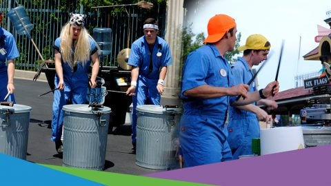Trash Tones Drummers at Six Flags New England