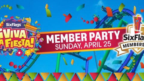 Viva La Fiesta Member Party at Six Flags Over Texas