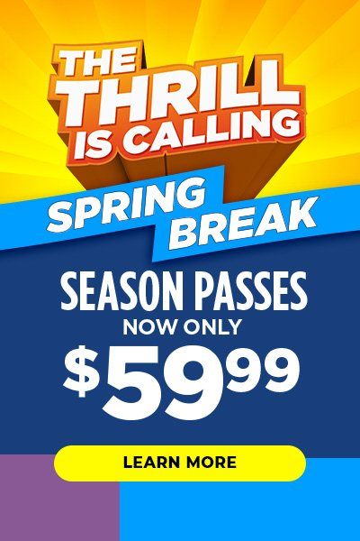 The thrill is calling. Six Flags is open for Spring Break.