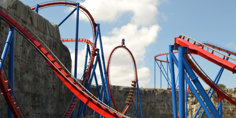 Roller Coaster Rodeo Six Flags Fiesta Texas