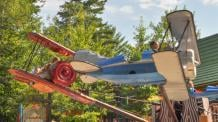 a view of Rocky's Ranger Planes at Six Flags