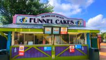 Hurricane Beach Funnel Cakes at Six Flags America